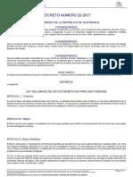 ley del banco de datos genético para uso forense DECRETO DEL CONGRESO 22-2017.pdf