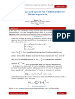 The scaling invariant spaces for fractional Navier- Stokes equations