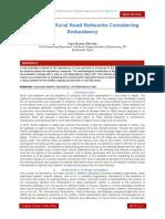 Analysis of Rural Road Networks Considering Redundancy