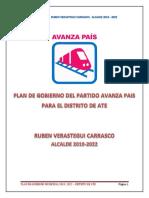 Plan de Gobierno Avanza País Ate