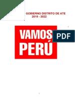 Plan de Gobierno Vamos Perú Ate