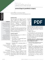 ATOTW 921 Major Haemorrhage in Paediatric Surgery