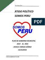Plan de Gobierno Somos Perú Barranco
