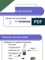 Detector de oscuridad (electrónica básica)