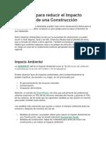 7 Medidas Para Reducir El Impacto Ambiental de Una Construcción