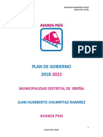 Plan de Gobierno Avanza País Breña