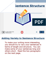 Varying Sent Struct2 - English Speaking Course Lucknow (CDI) / www.cdilucknow.blogspot.com