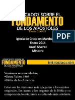 Edificados Sobre El Fundamento de Los Apostoles