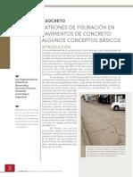 Fisuración Pavimentos de Concreto