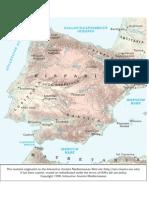 mapa hispania romana