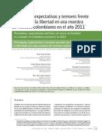 Percepción, Expectativas y Temores Frente Al Regreso a La Libertad en Una Muestrade Reclusos Colombianos en El Año 2011