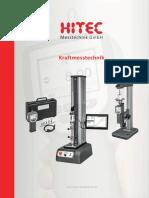 Hitec - Katalog stanowiska do pomiaru siły 2018 D