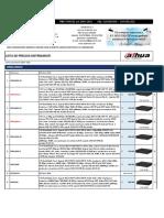 Lista de Precios Dahua Agosto