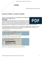 Dynamic Date Selection in Variants2