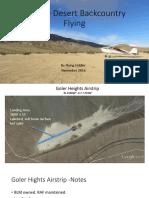 Mojave Desert Backcountry Airstrips