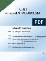 Unit i Nitrogen of Metabolism.