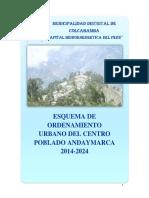 Esquema de Ordenamiento (Eou) Andaymarca-colcabamba