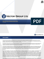VGR Vector Group Investor Presentation June 2018