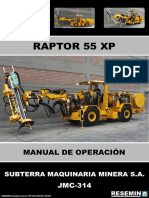 Manual de Operación Raptor 55 Xp Jmc-314