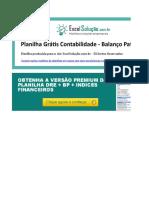 Planilha Balanco Patrimonial Contabilidade Excel v1