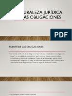 teoría naturaleza jurídica de las obligaciones