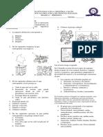 2018 Evaluación de C. Sociales. Periodo 1