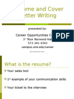 Resume and Cover Letter Writing06