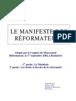 00 - Manifeste des réformateurs (2002)