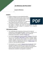 Lista de Ministros Del Perú 2017 Oficial