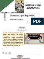 2 Diferentes Tipos de Párrafos