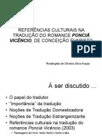 REFERÊNCIAS CULTURAIS NA TRADUÇÃO DO ROMANCE PONCI� VICÊNCIO