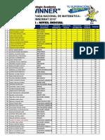 II Winnermat - Resultados Generales