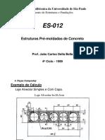 Estruturas Pré-moldadas de Concreto ES012 Aula5 Exemplo Pb
