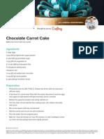 MAC - recipe chocolate carrot cake