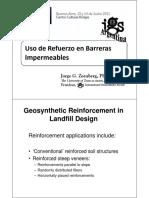 Geosinteticos Uso de Refuerzo en Barreras
