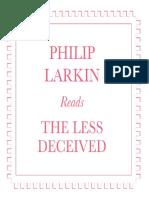 Digital Booklet - Philip Larkin Reads the Less Deceived