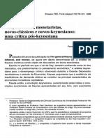 NCM e Metas de Inflacao - De Paula e Saraiva