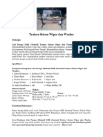 Trainer Sistem Wiper Dan Washer