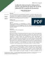 La normalización internacional en información y documentación ¿una historia de éxitos? El caso de la normalización ISO en gestión de documentos