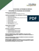 Plan de Estudios Posgrado en Economia TOMO 1