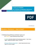 How to do Mandatory Disclosure