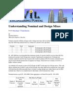 Understanding Nominal and Design Mixes