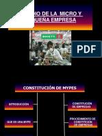 5. 0 MYPES y PYMES - Generalidades de Funcionamiento