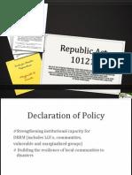 Republic Act 10121 Version 1