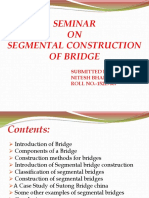 Segmental Construction of Bridge