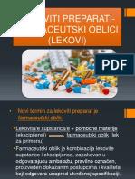 Lekoviti preparati - farmaceutski oblici