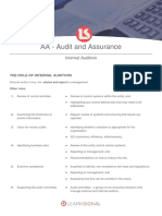 AA 19 Internal Auditors Notes