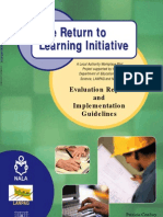 Return to Learning Evaluation Report