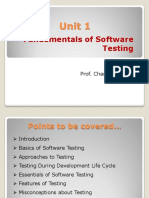 Unit 1 Fundamentals of Software Testing