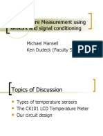 Temperature Measurement Using Sensors and Signal Conditioning